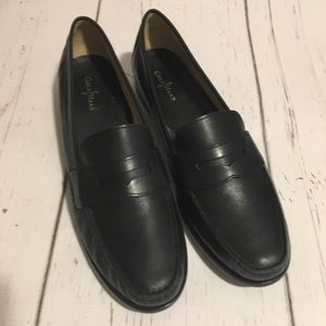 Cole Haan Leather Penny Loafers Classic Black